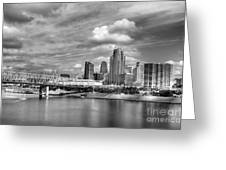 All American City 3 Bw Greeting Card