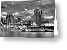 All American City Bw Greeting Card by Mel Steinhauer