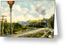 All Clear On The Pere Marquette Railway  Greeting Card