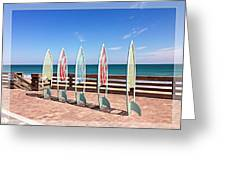 All In A Row Too Greeting Card