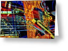 All Mixed Up Digital Guitar Art By Steven Langston Greeting Card