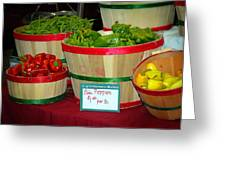All Peppers Greeting Card