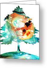 All Seasons Tree 1 - Colorful Landscape Print Greeting Card by Sharon Cummings