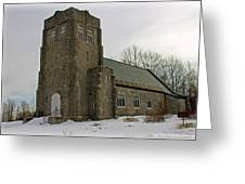 All Souls Chapel Poland Maine Greeting Card