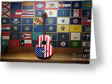 All State Flags Greeting Card by Bedros Awak