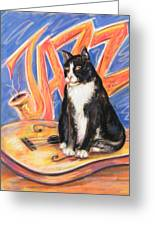 All That Jazz Cat Greeting Card