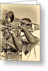 All That Jazz Sepia Greeting Card