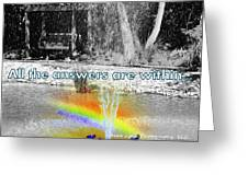 All The Answers Are Within... Greeting Card