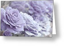 All The Lavender Roses Greeting Card