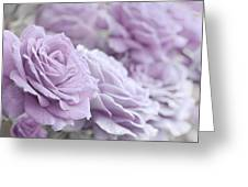 All The Soft Violet Roses Greeting Card