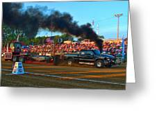 All Too Risky Pulling Truck Greeting Card