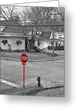 All Way Stop Greeting Card