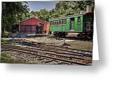 Allaire Rail Yard Greeting Card