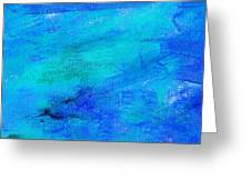 Allegory Blue Greeting Card