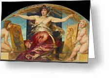 Allegory Of Religious And Profane Painting  Greeting Card