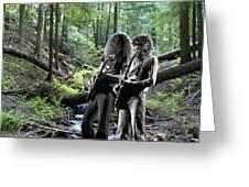 Allen And Steve On Mt. Spokane 2 Greeting Card