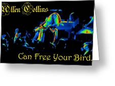 A C Can Free Your Bird Greeting Card