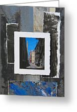 Alley 3rd Ward And Abstract Greeting Card