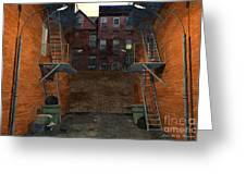 Alley At Dusk Greeting Card