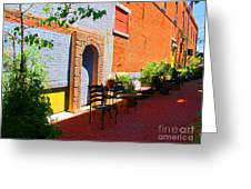 Alley Cafe Greeting Card
