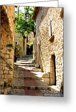 Alley In Eze, France Greeting Card