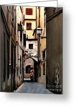Alley In Florence 1 Greeting Card