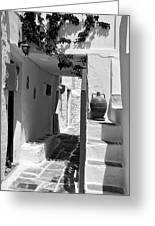Alley In Kastro Village Greeting Card
