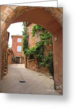 Alley In Roussillion Greeting Card