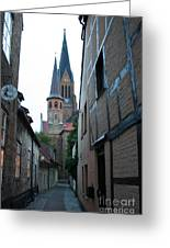 Alley In Schleswig - Germany Greeting Card