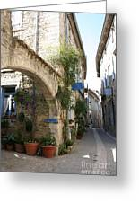 Alley In The Procence Greeting Card
