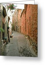 Alley In Tourrette-sur-loup Greeting Card