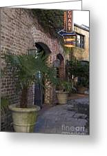 Alley Restaurant Greeting Card