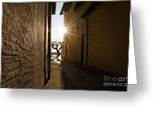 Alley With Sunbeam Greeting Card