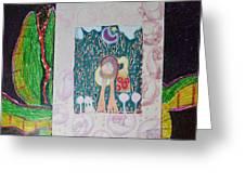 Alligator And The Doughnut Bag Greeting Card