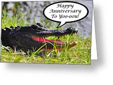 Alligator Anniversary Card Greeting Card