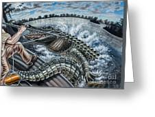 Alligator Hunt Greeting Card