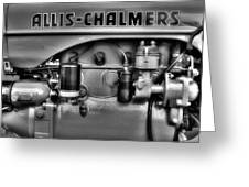 Allis Chalmers Engine Greeting Card