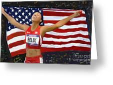 Allison Felix Olympian Gold Metalist Greeting Card