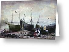Allonby - Fishing Village 1840s Greeting Card