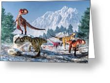 Allosaurus Pack Greeting Card