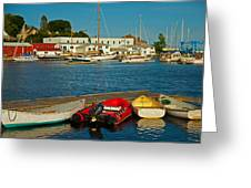 Alls Quiet In The Harbor Greeting Card