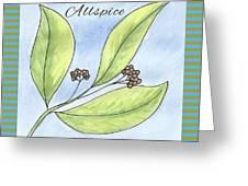 Allspice Illustration Greeting Card
