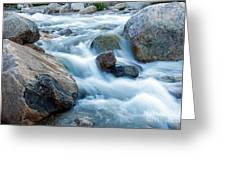 Alluvial Fan Falls On Roaring River Inrocky Mountain National Park Greeting Card