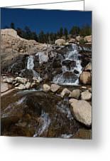 Alluvial Wet Rocks Greeting Card