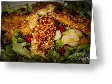 Almond Encrusted Chicken Salad 2 Greeting Card