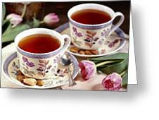Almond Tea For Two Greeting Card