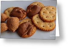Almonds - Almond Butter - Crackers - Food Greeting Card