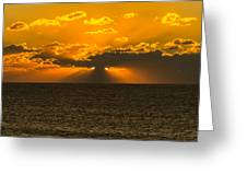 Almost Hidden Sunset  Greeting Card