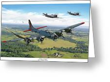 Almost Home  B-17 Flying Fortress Greeting Card