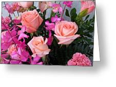 Almost Pink Flowers Greeting Card